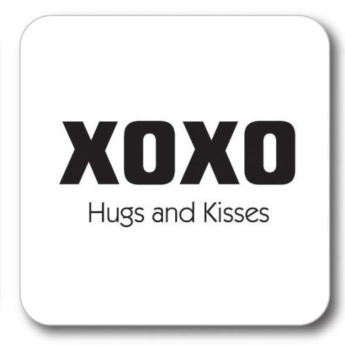 XOXO - Hugs & Kisses Coaster