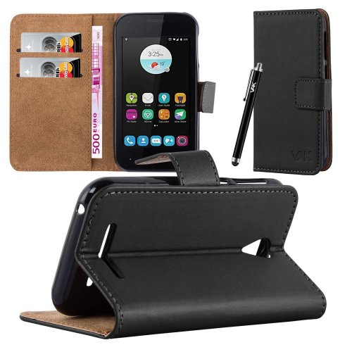 For ZTE Blade A110 Premium Leather Wallet Case