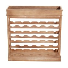 Homcom 4-tier Wooden Wine Rack Board 24 Bottles Stackable Display