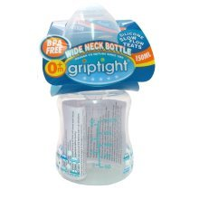 Griptight - 150ml TWIN PACK Wide Neck Bottle with Slow Flow Teat (Blue)