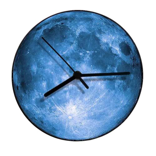 "Acrylic Wall Clock Fashion Clock Moon Pattern Wall Clock Home Decor 12"""