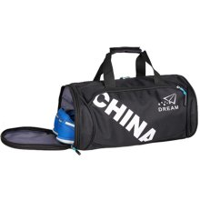 Unisex Classical Sports Bag Gym Duffel Bag Travel Luggage Bag with Shoe Compartment, A