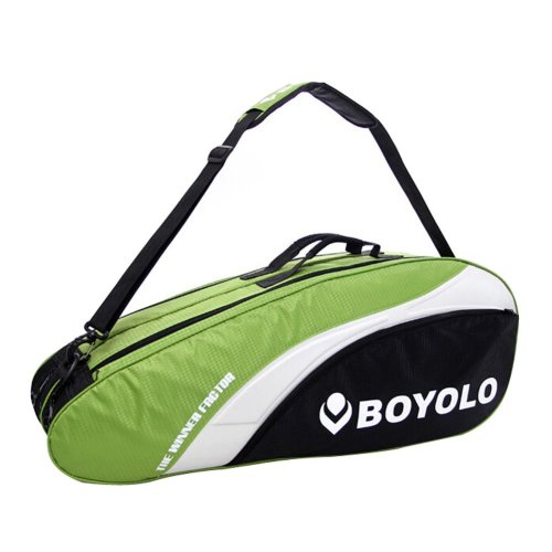 Modern Simple Badminton Equipment Bag Badminton Racket Bag GREEN