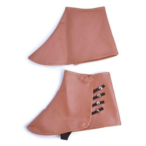 Brown Adults Steampunk Spats - Dress Fancy Accessory -  brown steampunk dress spats fancy accessory