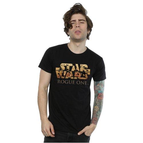 Star Wars Men's Rogue One Logo Scene T-Shirt