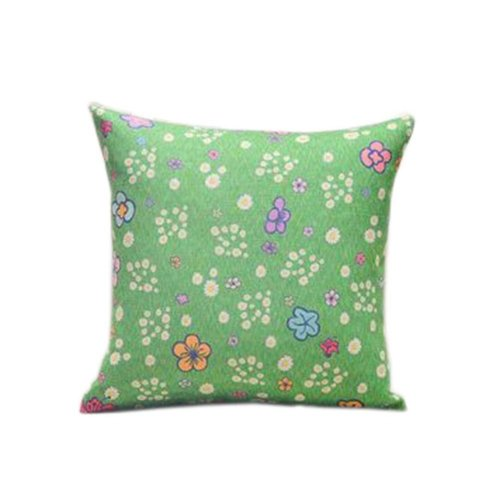 Beautiful Green Floral Pattern Home Furnishing Pillow / Cushion