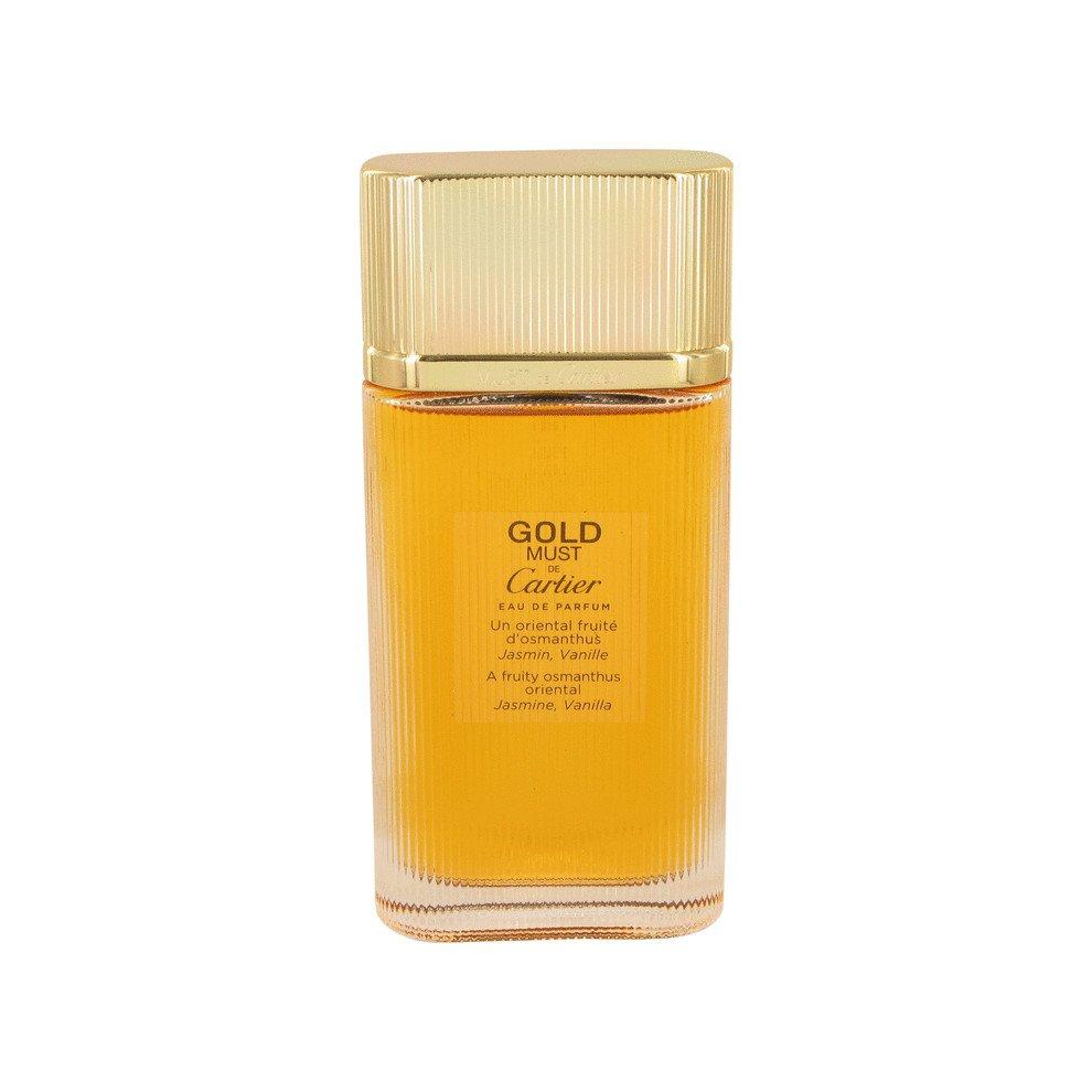 Must De Cartier Gold by Cartier Eau De Parfum Spray Tester 3.3 oz