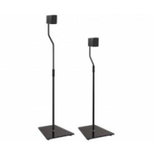 King Universal Freestanding Speaker Floor Stand, Pair, Black for Surround Sound Speakers