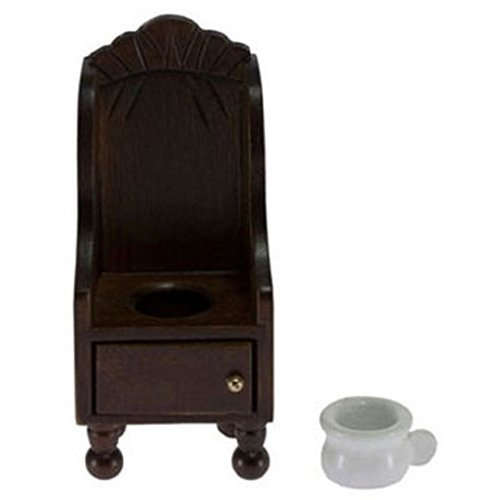 Dollhouse Miniature Victorian Potty Chair in Wood