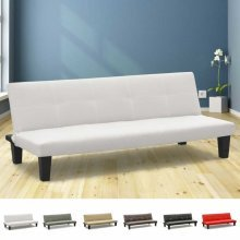 Sofa Bed in Faux Leather 3 Seats Convertible TOPAZIO