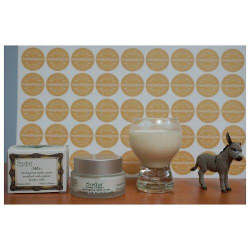 Greek Women Antiageing Night Cream Face & Neck Bio Donkey Milk 50ml