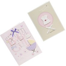 Lovely Baby Thank You Cards Baby Shower Set of 10 3D Cards,Pink&Brown