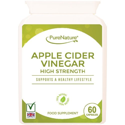 Apple Cider Vinegar - 60 Capsules - Helps Support and Maintain a Healthy Body Fluid Balance, Weight loss and Sugar Balance