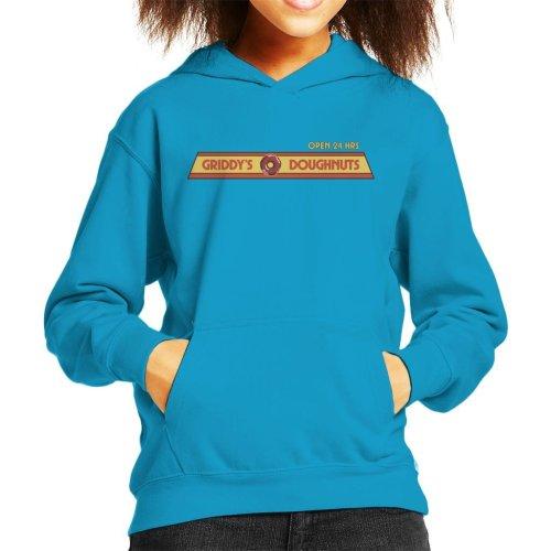 Umbrella Academy Grillys Doughnuts Logo Kid's Hooded Sweatshirt
