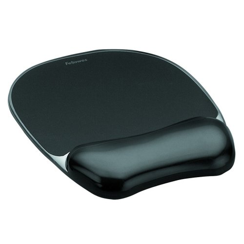 Fellowes 9112101 Crystals Gel Mouse Pad and Wrist Support - Black