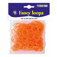 * Playbox - Loops (Loom Bands)- 500pcs orange