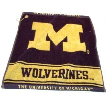 NCAA Michigan Wolverines Jacquard Woven Golf Towel