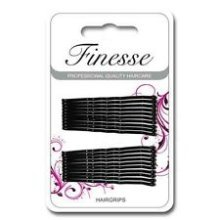 Long Black Hair Grips -  finesse hairgrips long black