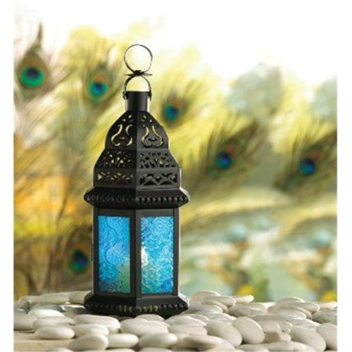 Zingz & Thingz 57071224 Rich Blue Candle Lantern