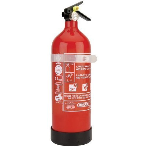 2kg Dry Powder Extinguisher - Draper Fire 04939 -  draper 2kg dry powder fire extinguisher 04939