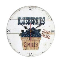"""Blueberry Pattern Retro Wall Clock Hanging Wall Decorative Home Clock Silent 12"""""""