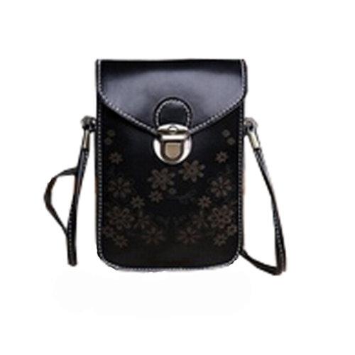 Universal Cellphone Leather Bag Shoulder Strap Purses PU Leather Wallet