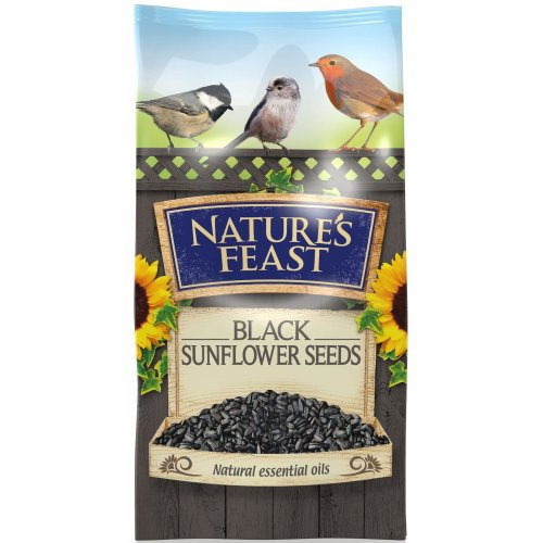 Nature's Feast Black Sunflower Seeds For Wild Birds, 3 kg