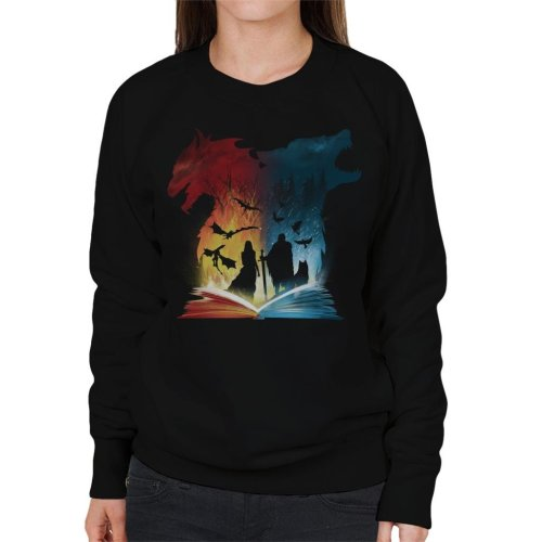 Book Of Fire And Ice Game Of Thrones Women's Sweatshirt