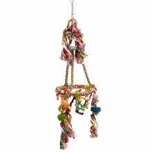 Beeztees Carousel Bird Swing for Lovebirds Cotton 20x67 cm 5168