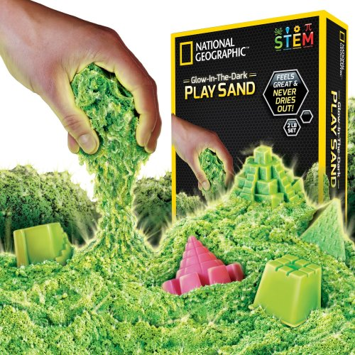 National Geographic Play Sand - 900 Grams of Sand with Castle Moulds and Tray