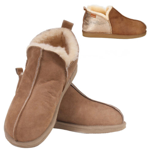 7172c793a98bb Shepherd of Sweden Ladies Sheepskin Bootee Slippers with Hard Sole on OnBuy