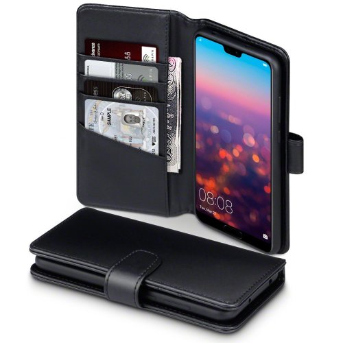 Genuine Leather Wallet Case For Huawei P20 Pro With Stand Cell Phones & Accessories