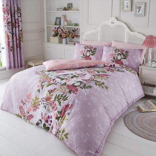 Wisteria Floral Duvet Cover Bedding Set