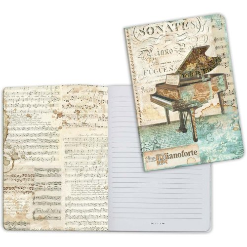 Stamperia Lined Notebook A5-Piano, Music