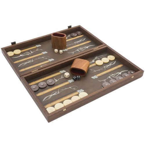 The Manopoulos Creative Range 'Robusto Cigar' Backgammon Set with Philos Deluxe Cups