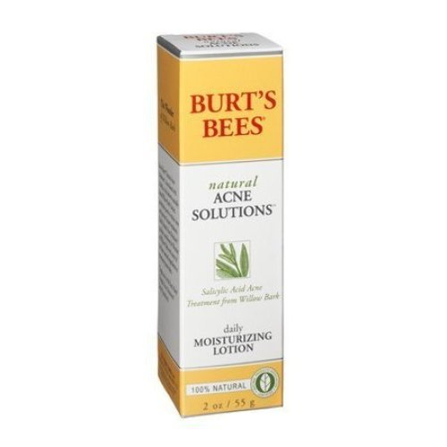 Burts Bees Natural Acne Solutions Daily Moisturizing Lotion 2 oz (Pack of 3)