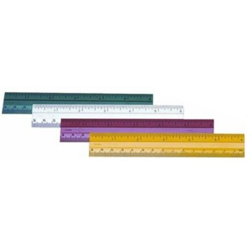 Charles Leonard 2317545 6 in. Plastic Ruler, Assorted Colors - Case of 864