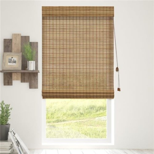 Chicology BRMS3964 Bamboo Roman Shades Wood Window Blind, Squirrel - 39 x 64 in.