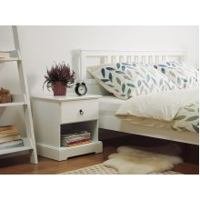 1 Drawer Bedside Table White GILBERT