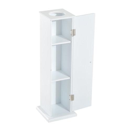 Homcom Toilet Roll Storage Cabinet Tissue Paper Holder Storage - White