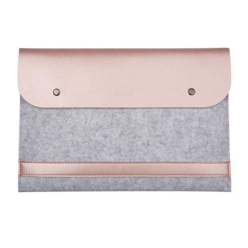 Macbook Sleeve Bag, Eleoption Ultra Slim Felt & PU Leather Sleeve Cover Case Protective Bag Notebook Laptop Carrying Bag For all 12 inch Macbook...