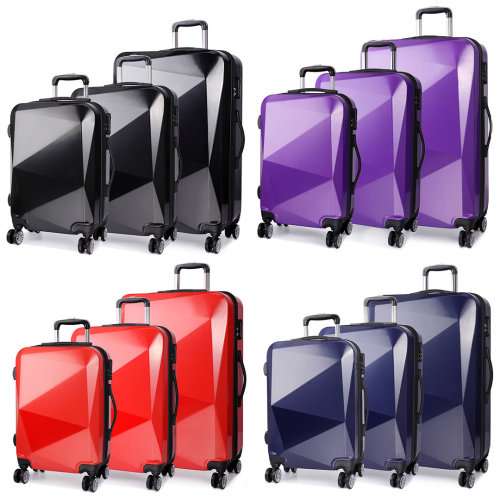 "KONO Diamond 4 Wheel Spinner Suitcase | 20, 24, 28"" & Set"