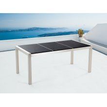 Nice Garden Table 180cm - Stainless Steel - Granite Plate - GROSSETO