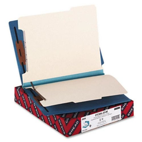 Smead 26836 Colored End Tab Classification Folders  Letter  6-Section  BE  10/box