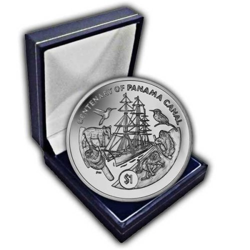 British Virgin Islands 2014 Centenary of the Panama Canal Unc. CuNi Coin in a box