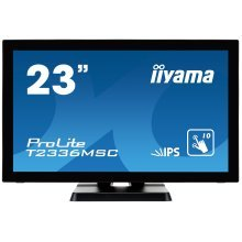 "iiyama ProLite T2336MSC-B2 23.6"" 1920 x 1080pixels Multi-touch Black touch screen monitor"
