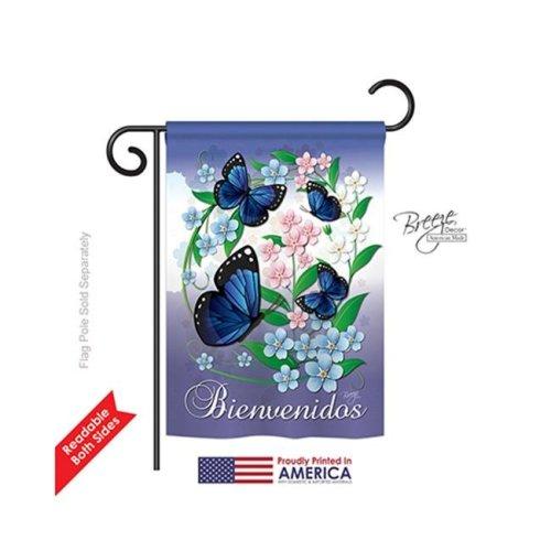 Breeze Decor 54073 Mariposas Celestes 2-Sided Impression Garden Flag - 13 x 18.5 in.