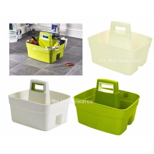 Whitefurze Plastic Handy Caddy Storage Tidy Kitchen Cleaning DIY Tool Utility