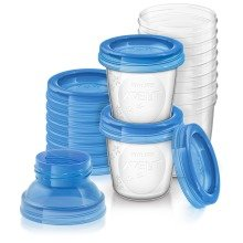 Philips Avent Breast Milk Containers (10x 180ml) Scf618/10