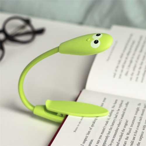 Clip On Reading Light Book Worm Flexi LED Portable Lamp Study Table Desk Kids